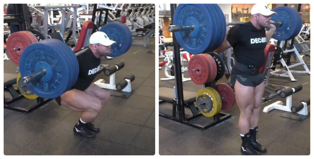 a man is doing narrow squat exercise