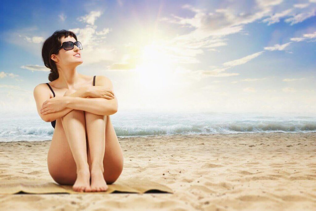 woman in a beach with good condition